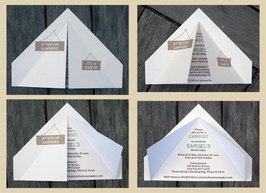 Camp Out Invitation Templates