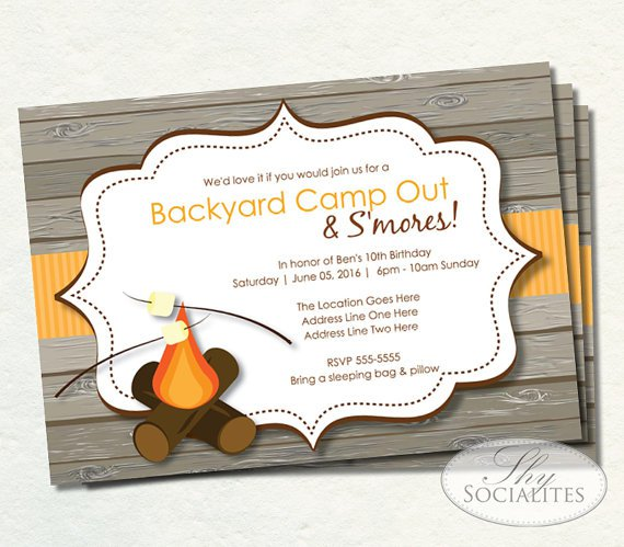 Campfire Invitation Template