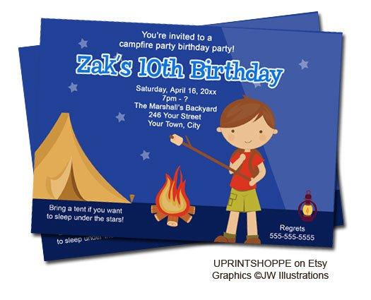 Campfire Invitations Birthday