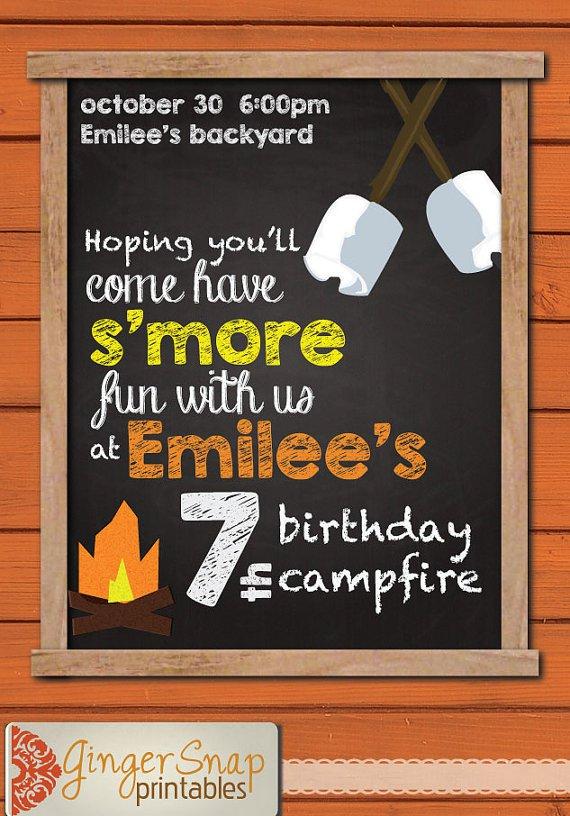 Campfire Party Invitation Wording