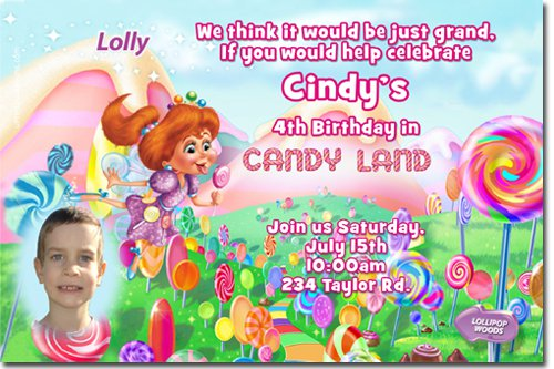 Candy Birthday Invitation Template