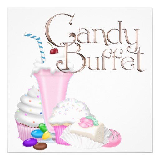 Candy Birthday Invitation Templates