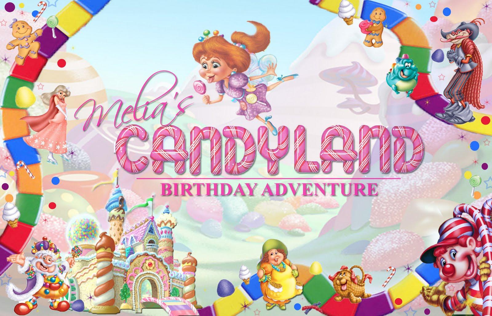 Candyland Birthday Invitation Ideas