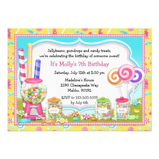 Candyland Invitation Ideas