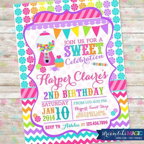 Candyland Invitations Free