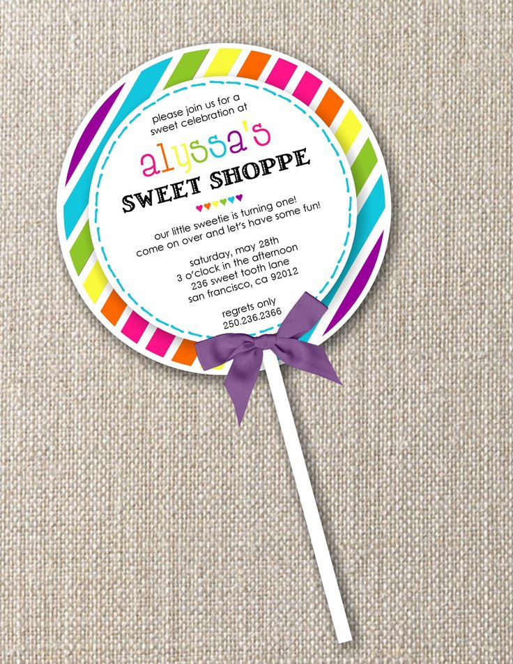 Candyland Invitations Printable Fill In