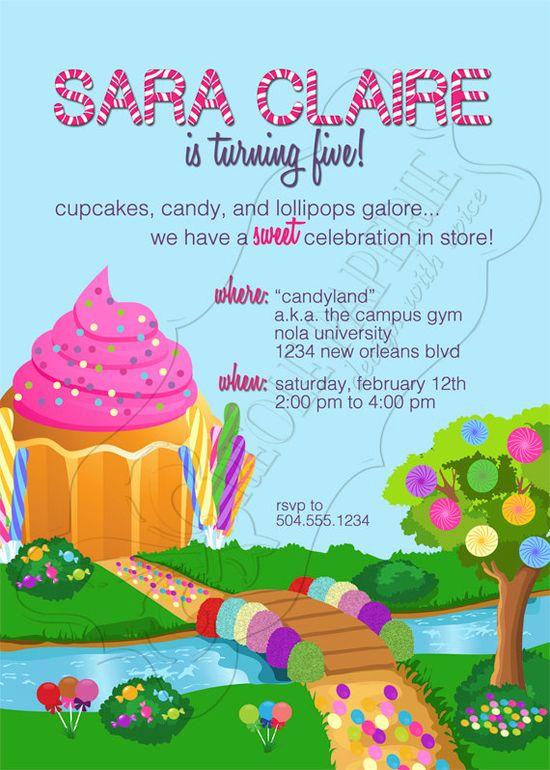 Candyland Party Invitation Ideas