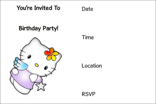 Card Birthday Invitations Printable You Can Put On A Picture