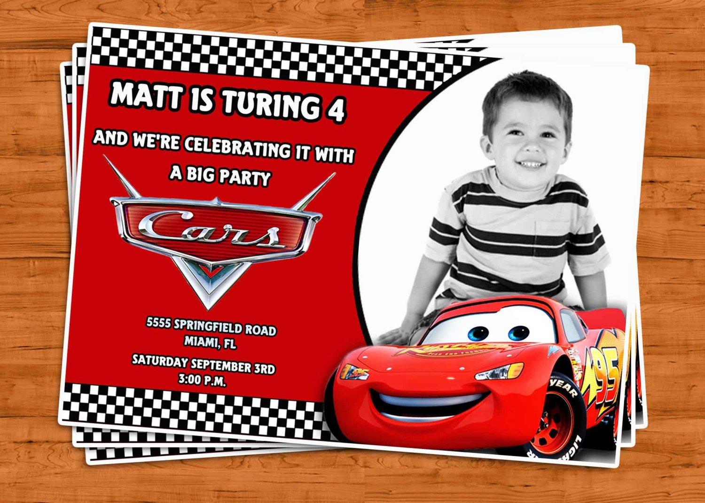 Cars Birthday Invitations