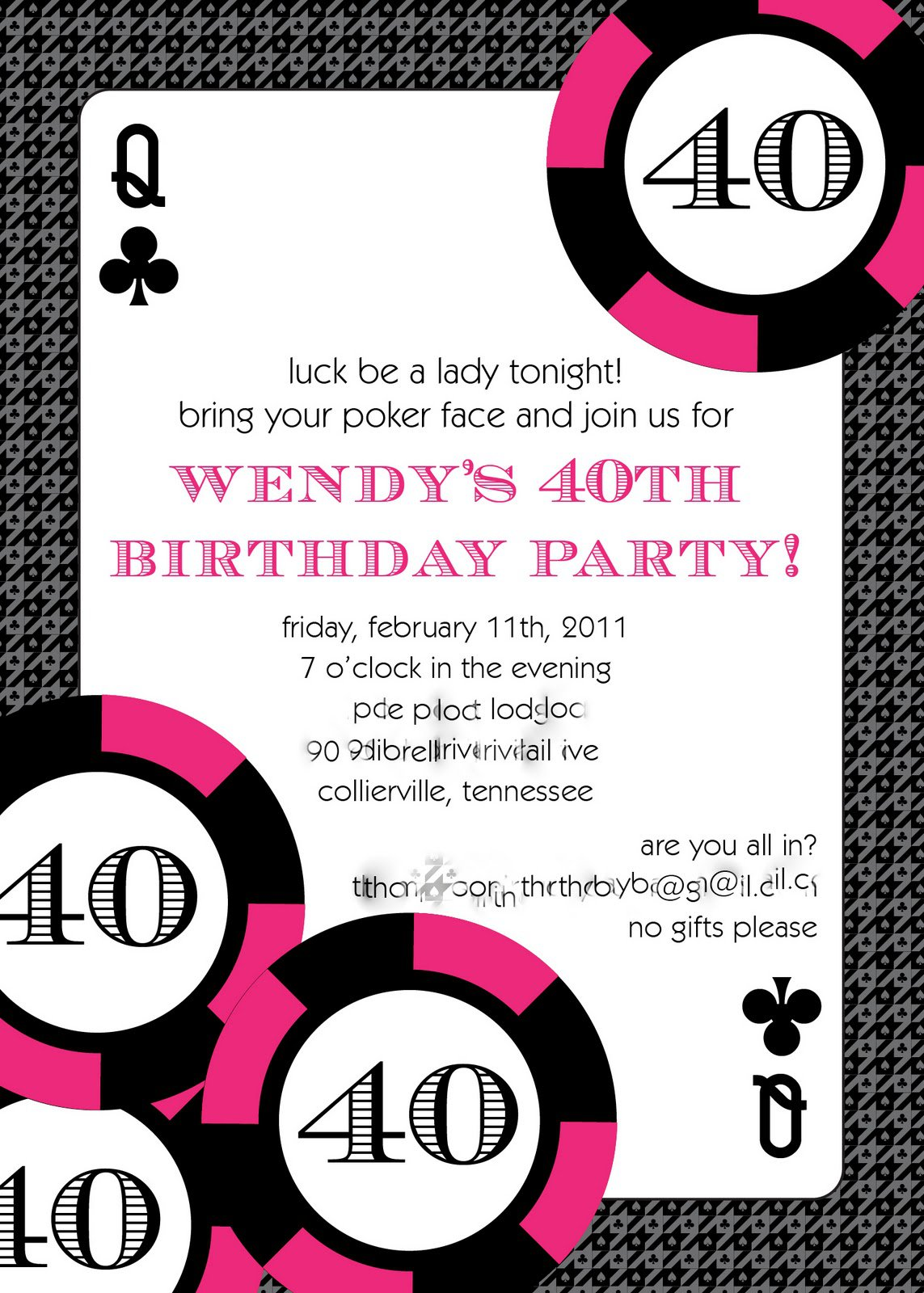 Casino Birthday Invitation Templates