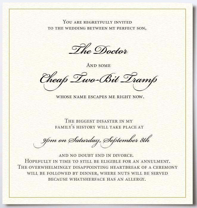 Casual Reception Invitation Wording
