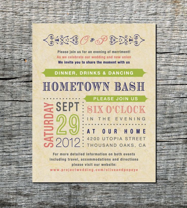 Casual Reception Only Invitation Wording