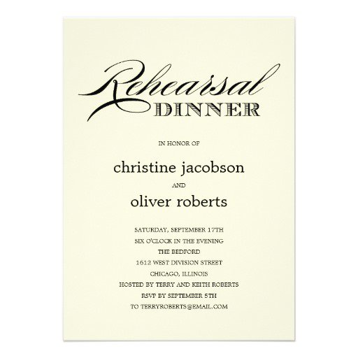 Casual Rehearsal Dinner Invitations Wording