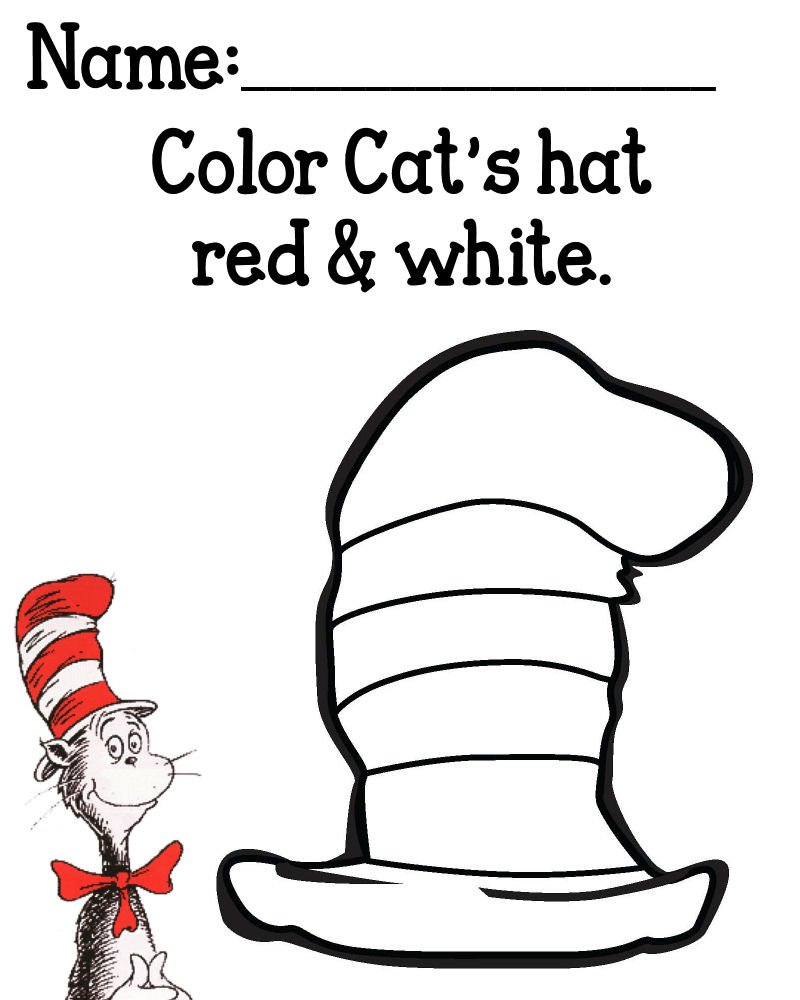 Cat In The Hat Invitations Template
