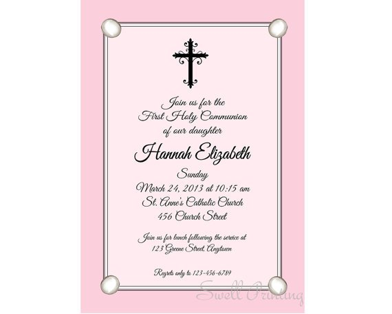 Catholic Confirmation Invitations