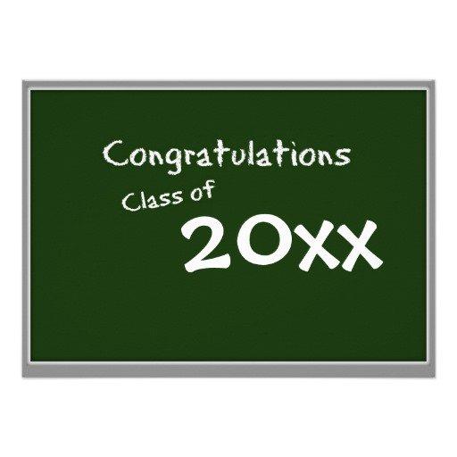 Chalkboard Graduation Party Invitations