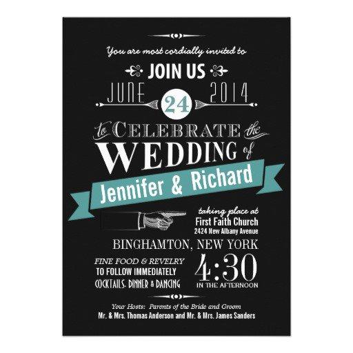 Chalkboard Style Wedding Invitations Uk