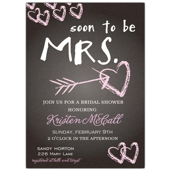 Chalkboard Wedding Invitations Wording