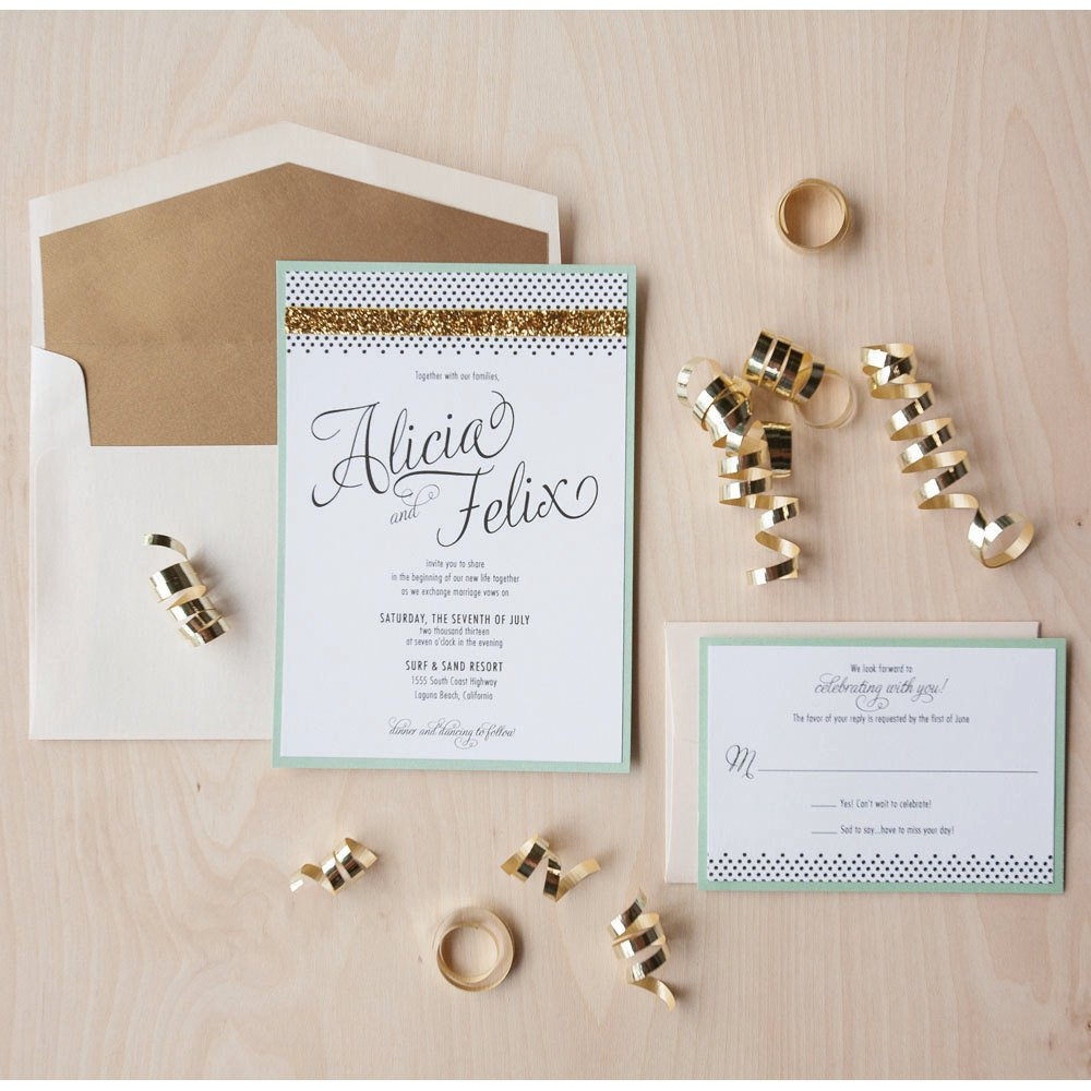 Champagne And Brown Wedding Invitations