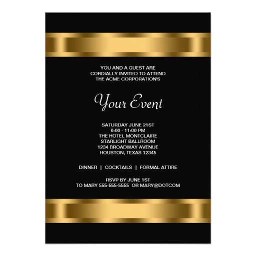 Charity Event Invitation Template
