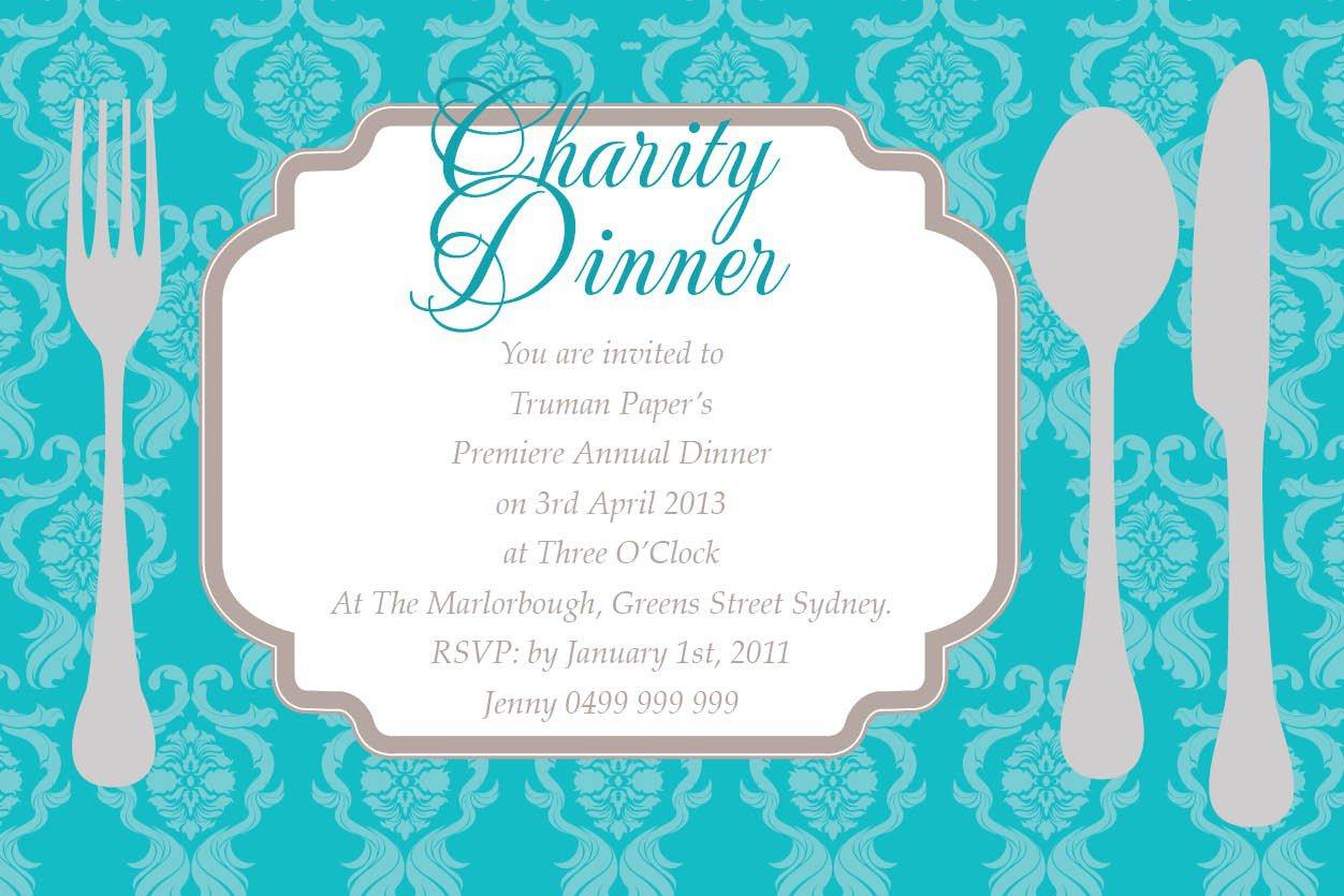 Charity Invitation Wording