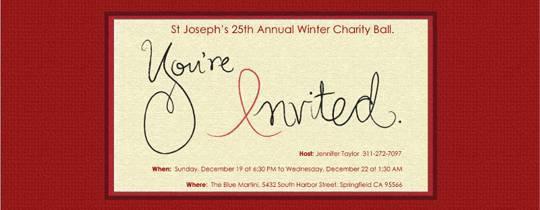 Charity Lunch Invitation