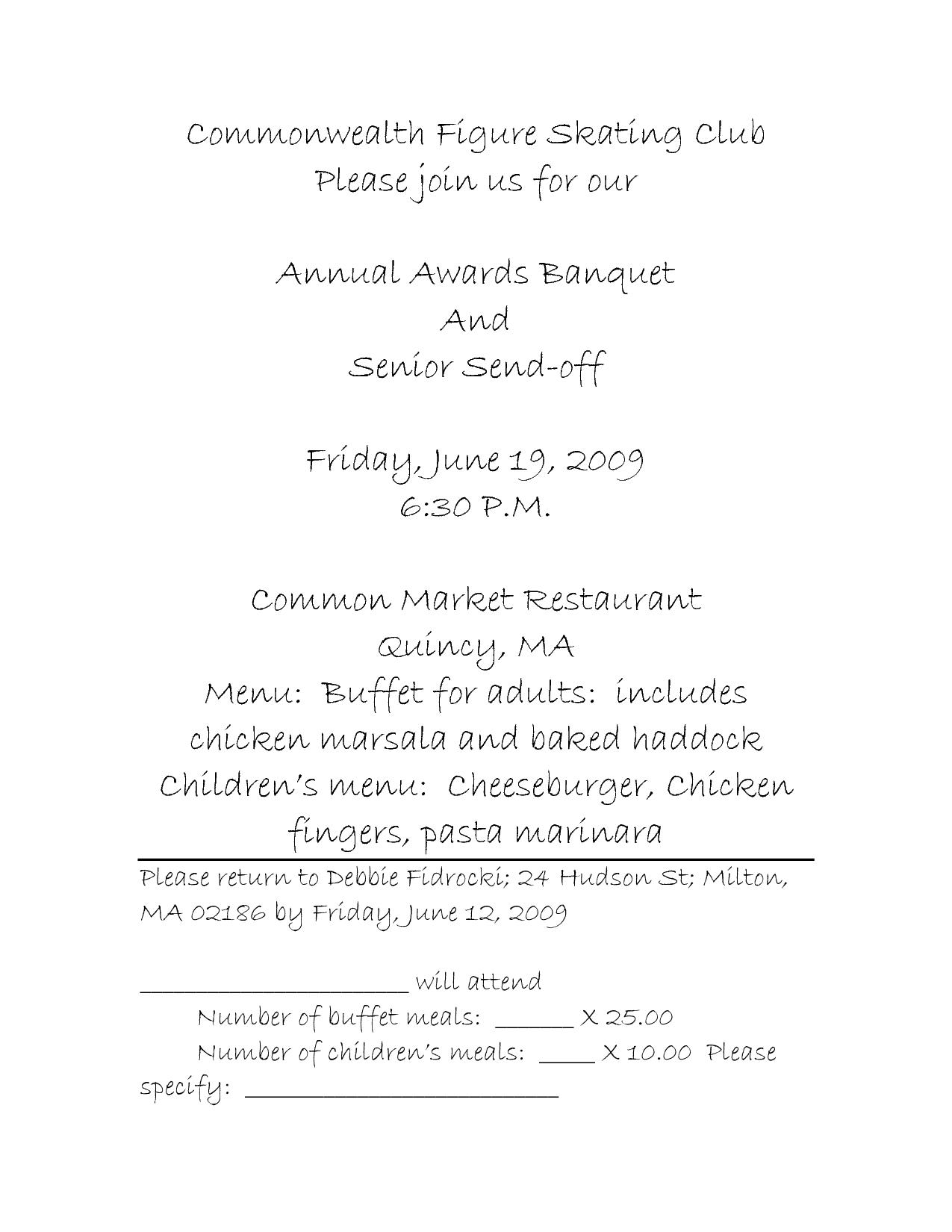 Charity Luncheon Invitations
