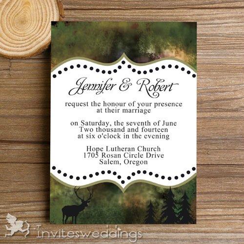 Cheap Camo Wedding Invitation Kits
