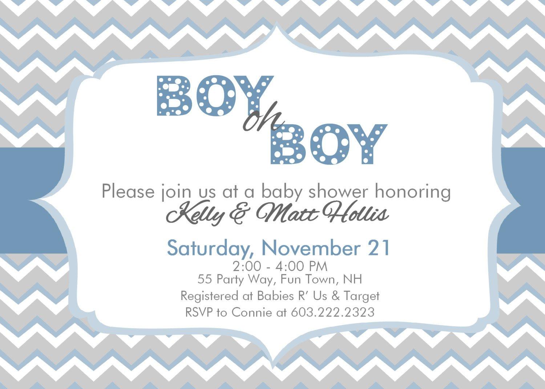 Chevron Baby Shower Invitations Free