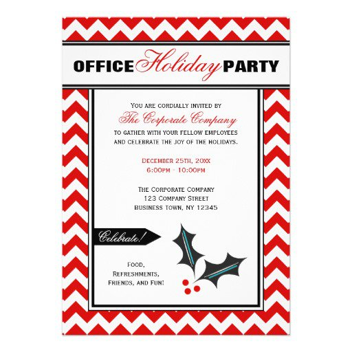 Chevron Christmas Invitations