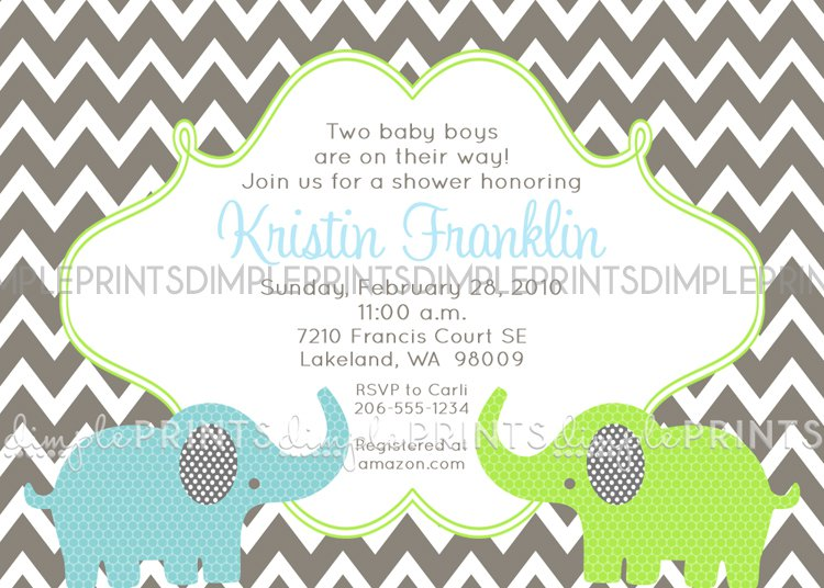 Chevron Holiday Invitations