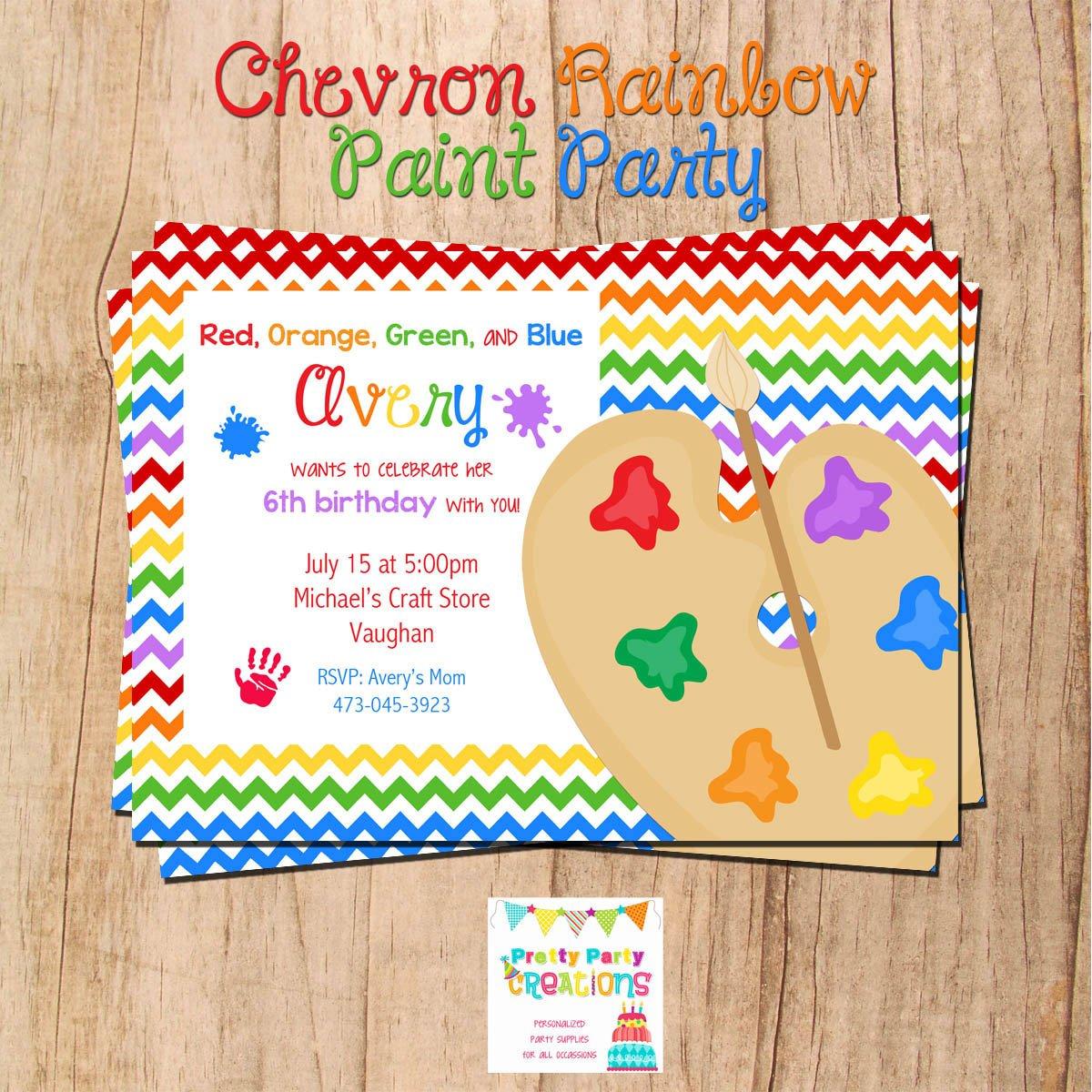 Chevron Party Invitations