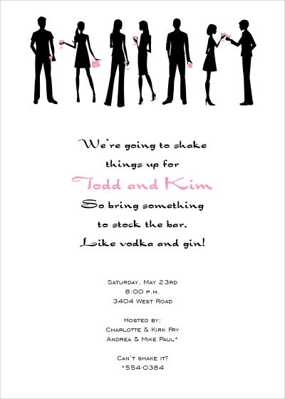 Chic Cocktail Party Invitation