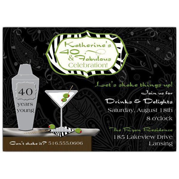 Chic Cocktail Party Invitations