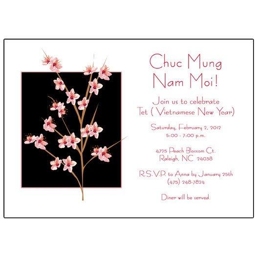 Chinese New Year Invitations Wording