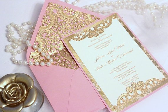 Chocolate Brown And Champagne Wedding Invitations