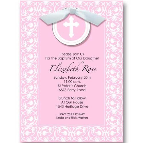 Christening Invitation Wording Including Godparents