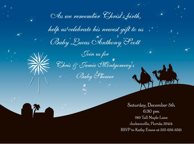 Christian Christmas Invitation Wording