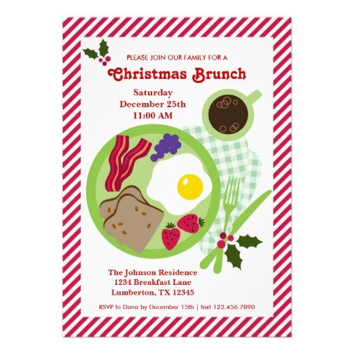 Christmas Brunch Invitations Ideas