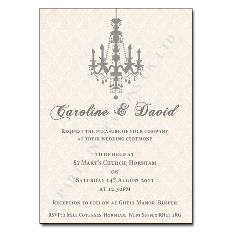 Christmas Champagne Elegant Wedding Invitations