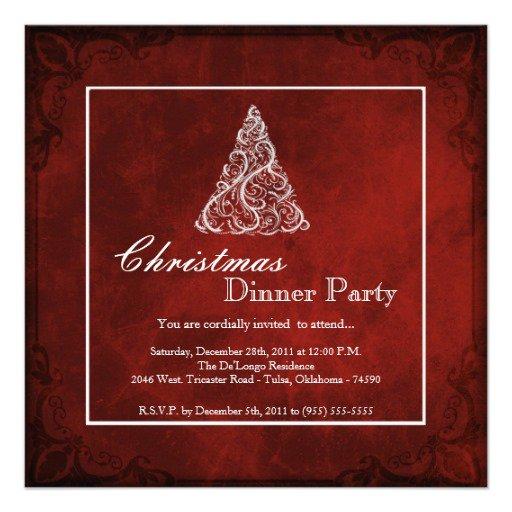 Christmas Dinner Invitation Ideas