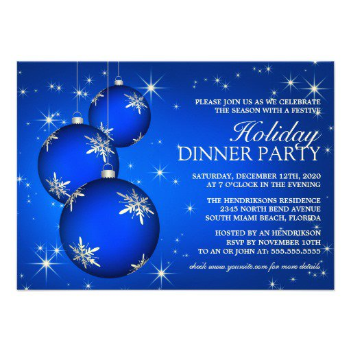 Christmas Dinner Party Invitations Template