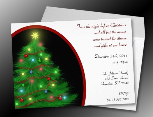 Christmas Eve Dinner Invite Wording