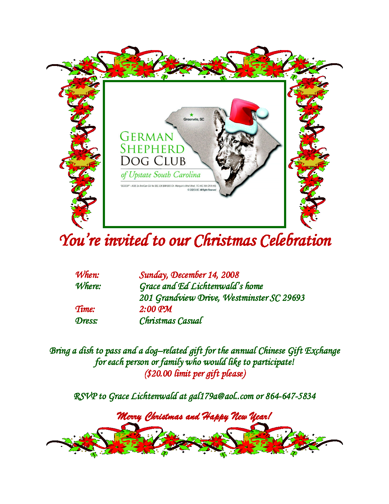 Christmas Party Flyer Invitation
