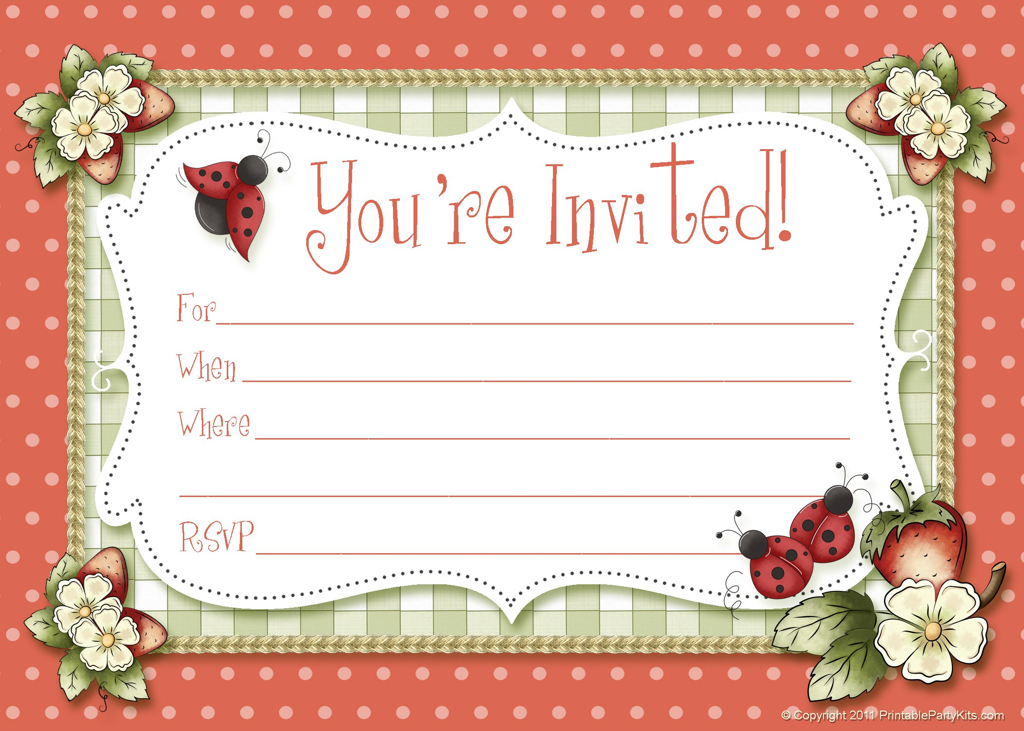 Christmas Party Invitation Blank Template