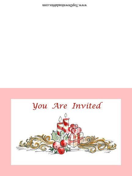 Christmas Party Invitation Blank Templates