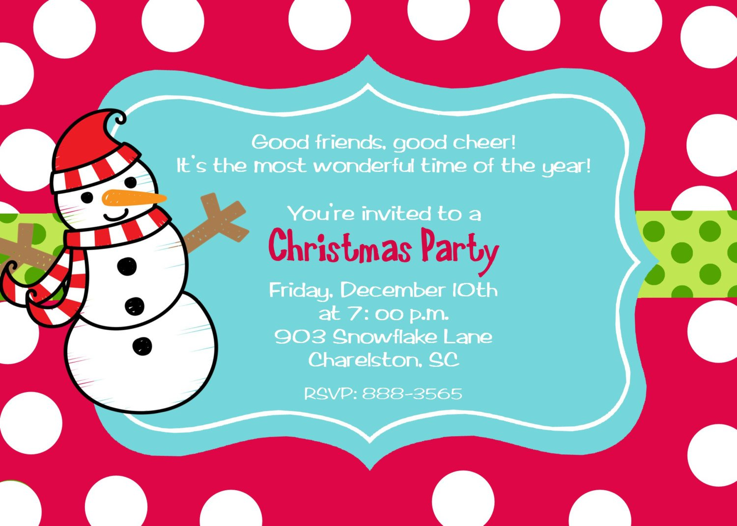 Christmas Party Invitation Wording Humorous