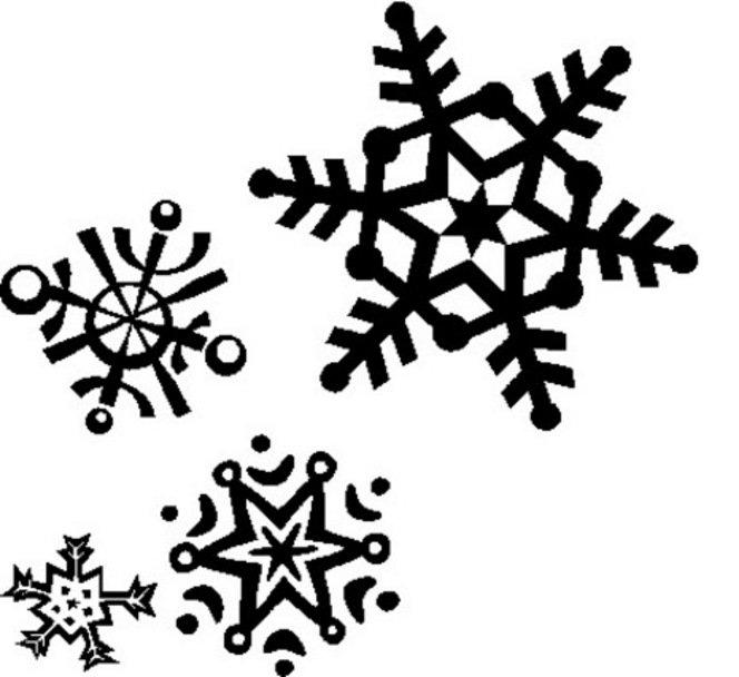 Christmas Snowflake Invitations