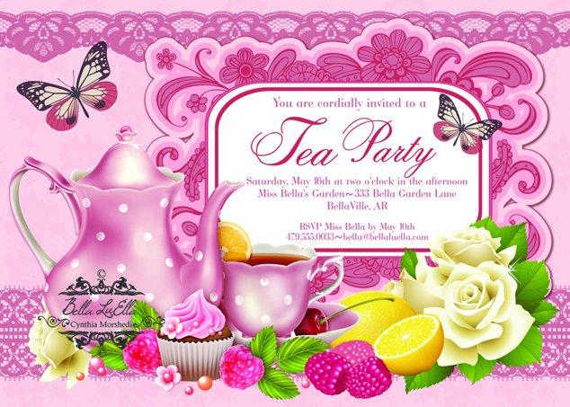 Christmas Tea Party Invitation Ideas
