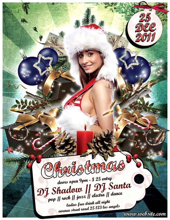 Christmas Tree Invitations Template